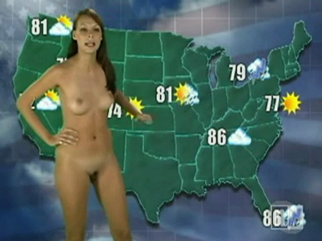 Naked Weather Reporter 19