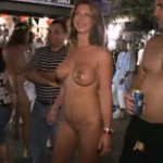 Naked Halloween street party