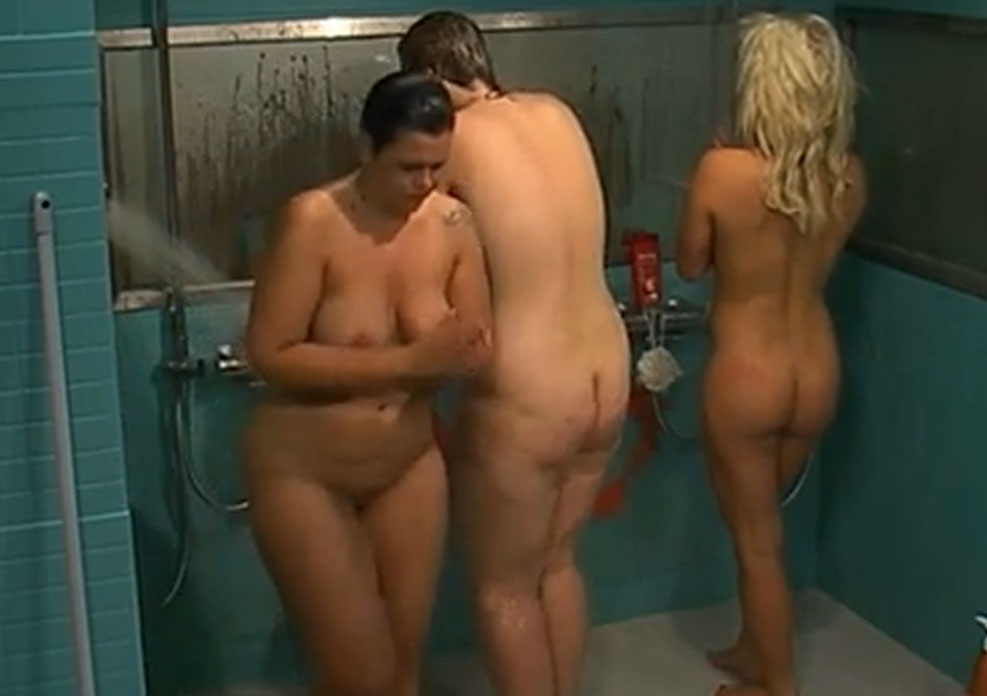 3 big brother girls completely naked in the shower