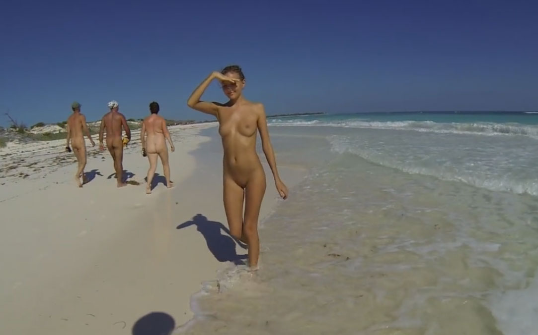 Katya Clover - enjoying naked beach in cuba