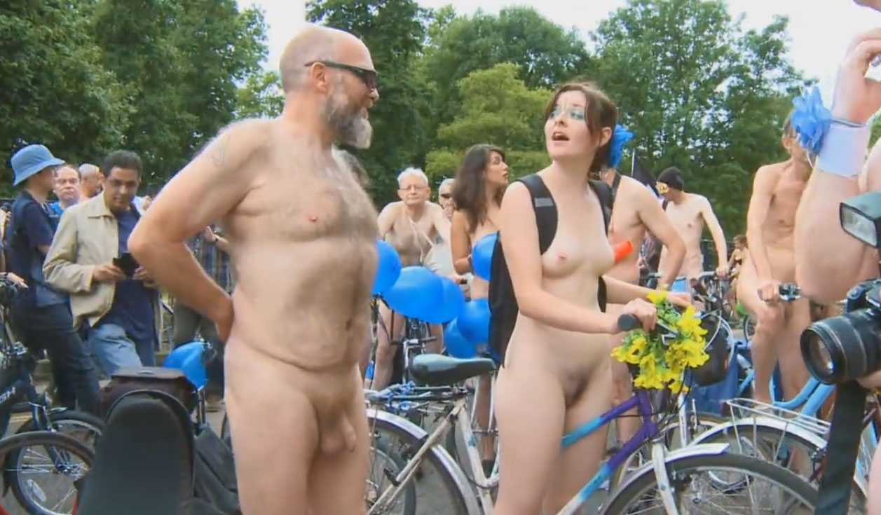 world naked bike ride - london 2014