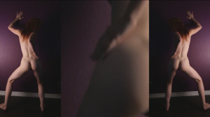 Naked dance clip by cute redhead