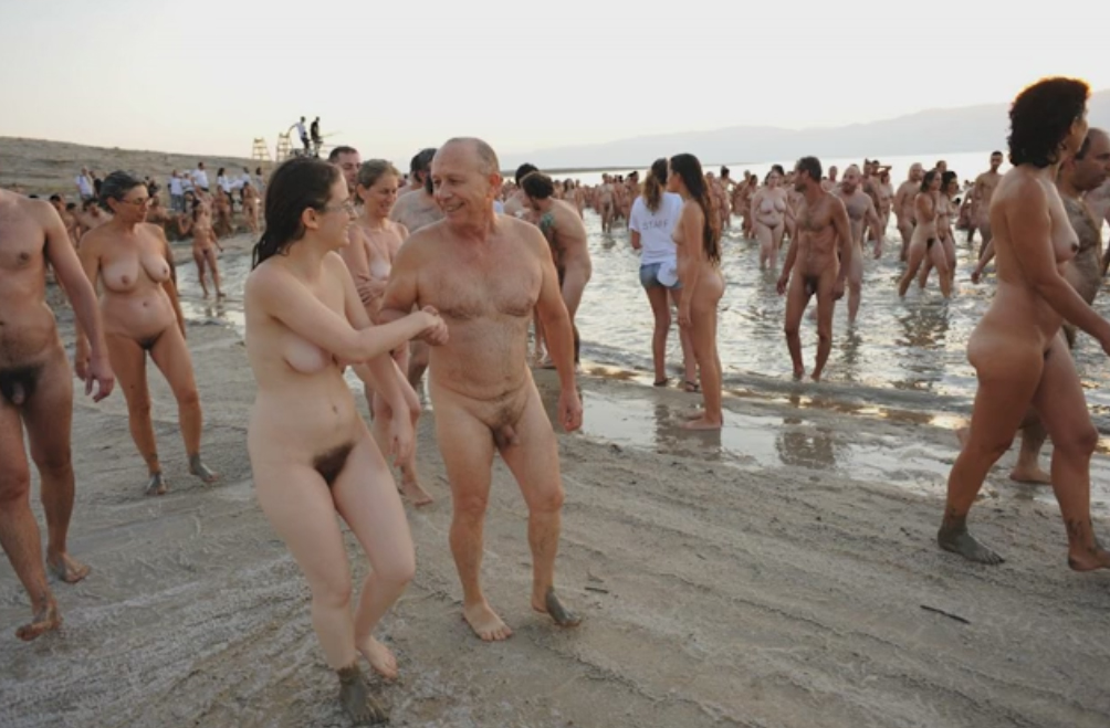 spencer tunick - dead sea photographs