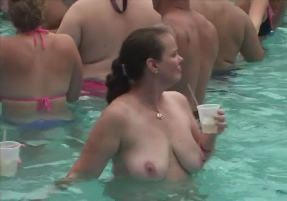 Fantasy Fest festival 2014 - topless women in the pool
