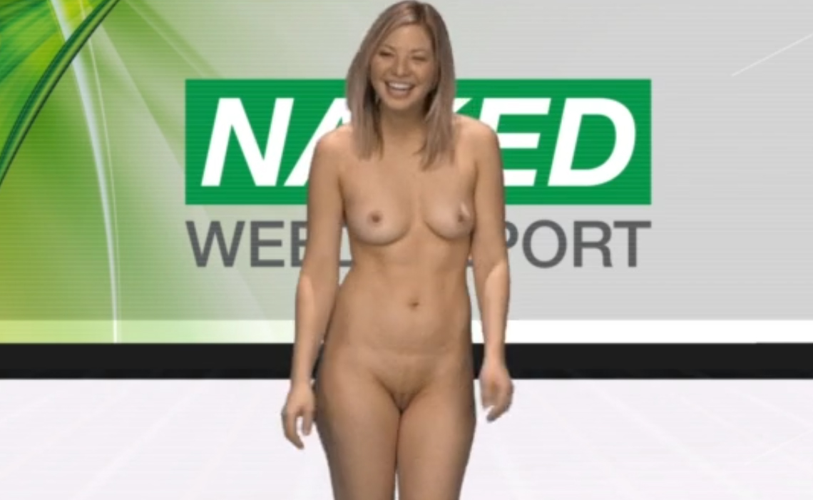 Naked blonde casting for Naked Weed Report
