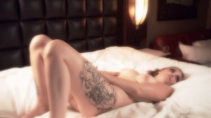 Sweet Tattooed blonde shows Everything to the camera