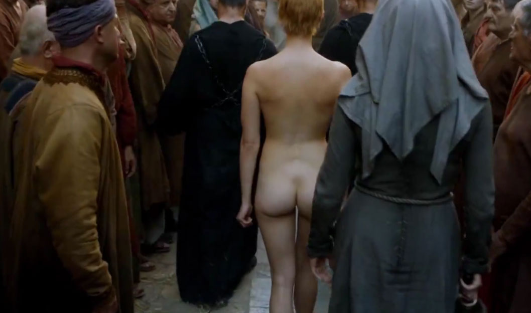 Cersei Lannister - Naked ass in public