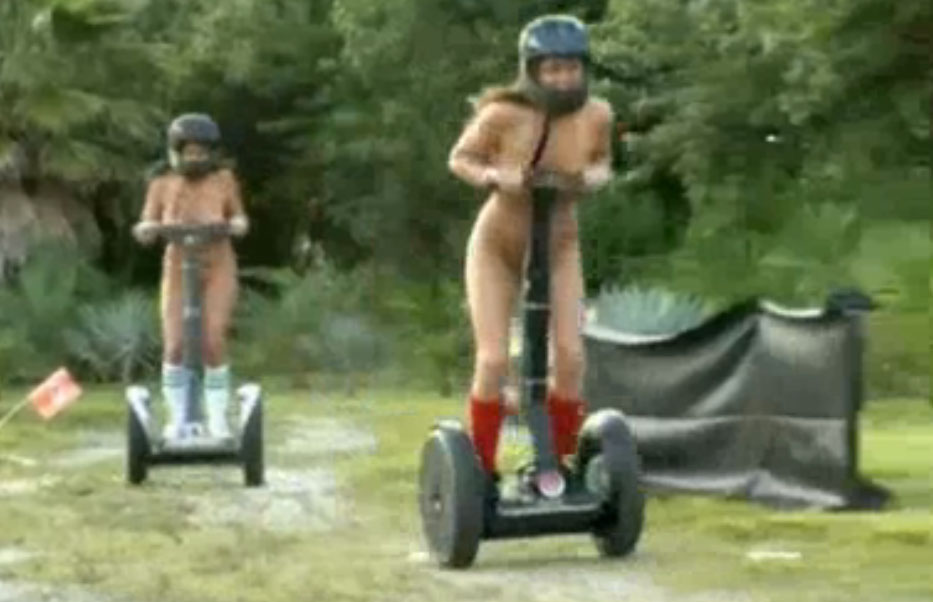 Naked Segway Race