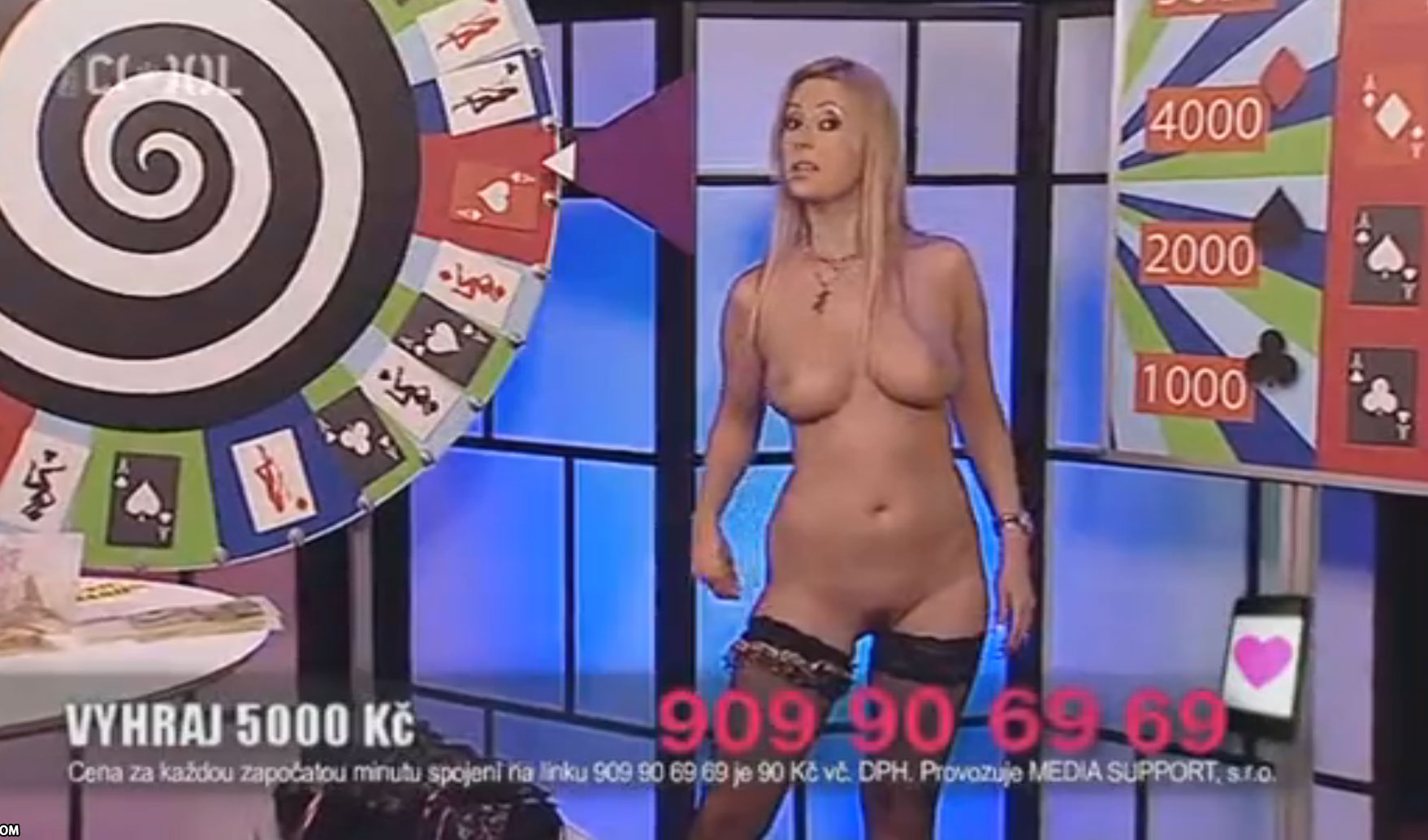 Naked TV game show