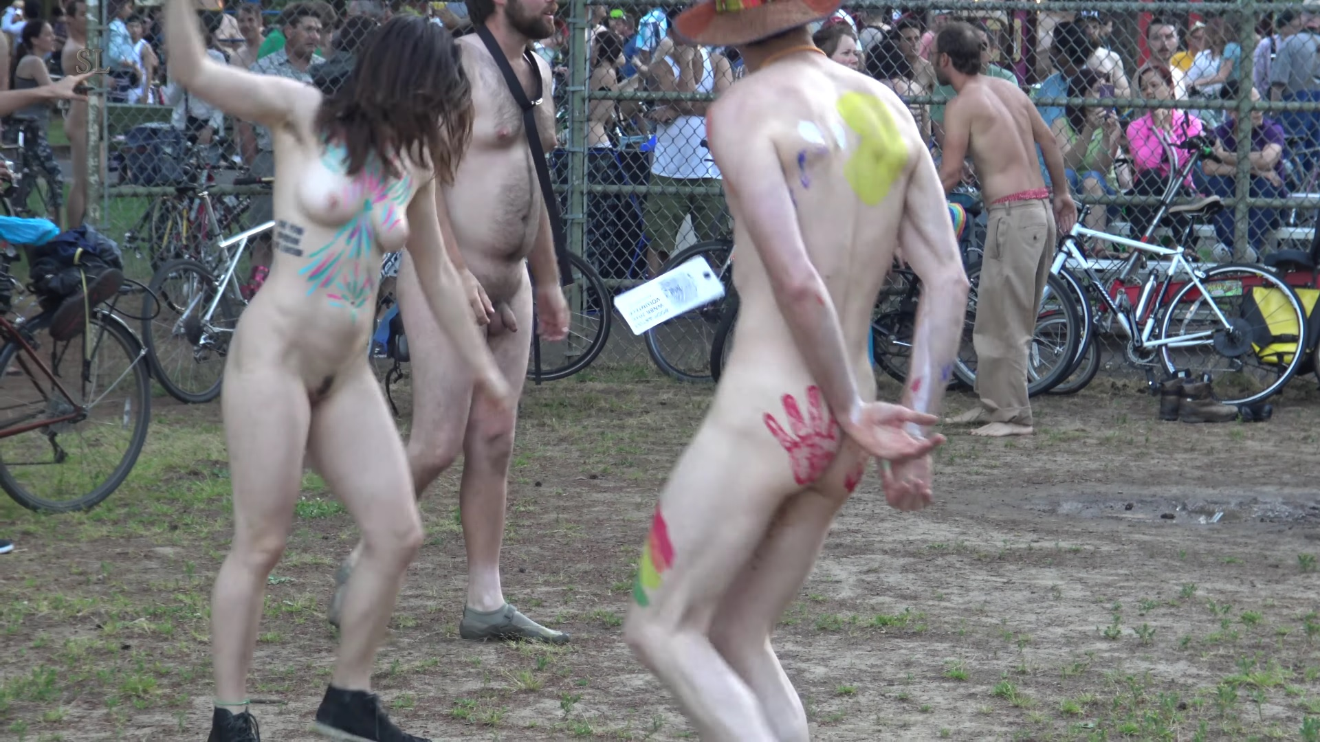 Naked dance party in public [4K]