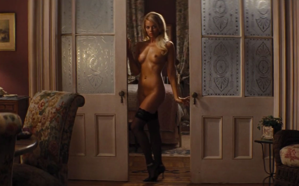 Margot Robbie - Naked scene from The Wolf Of Wall Street