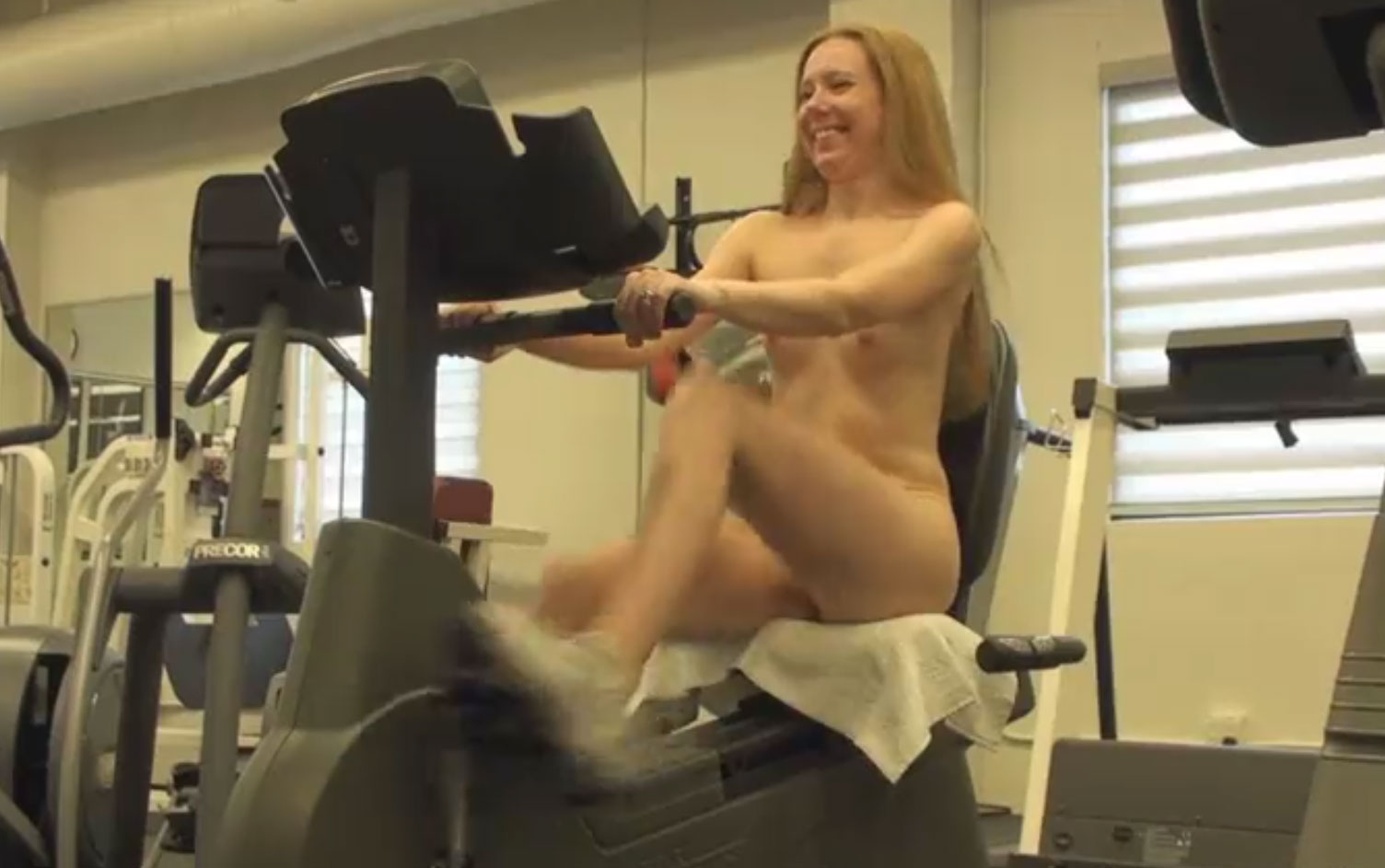 Naked Workout in the GYM
