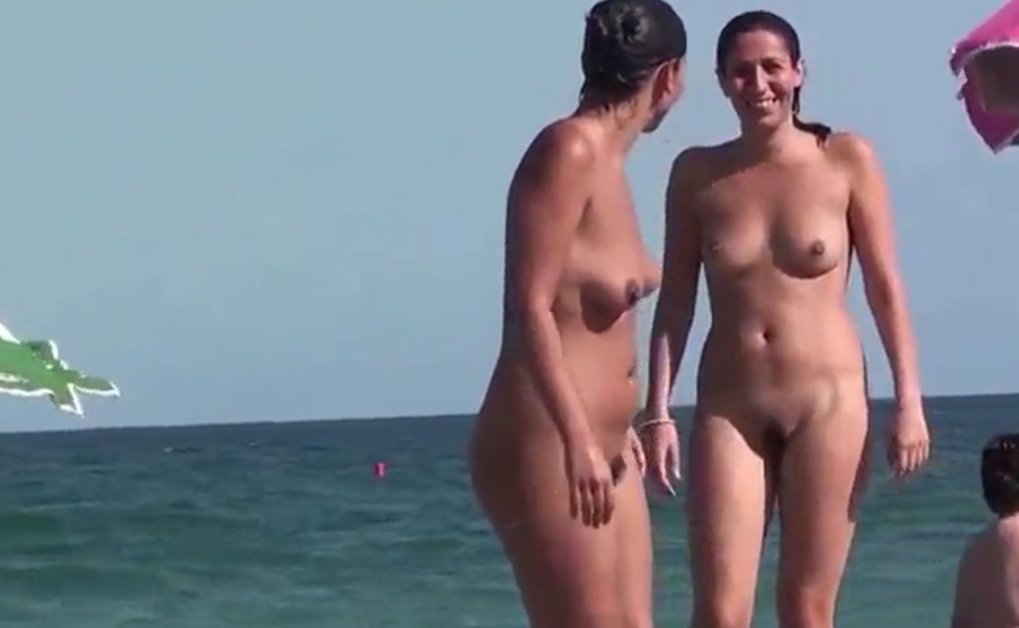 Enjoy a quarter hour of Naked beach