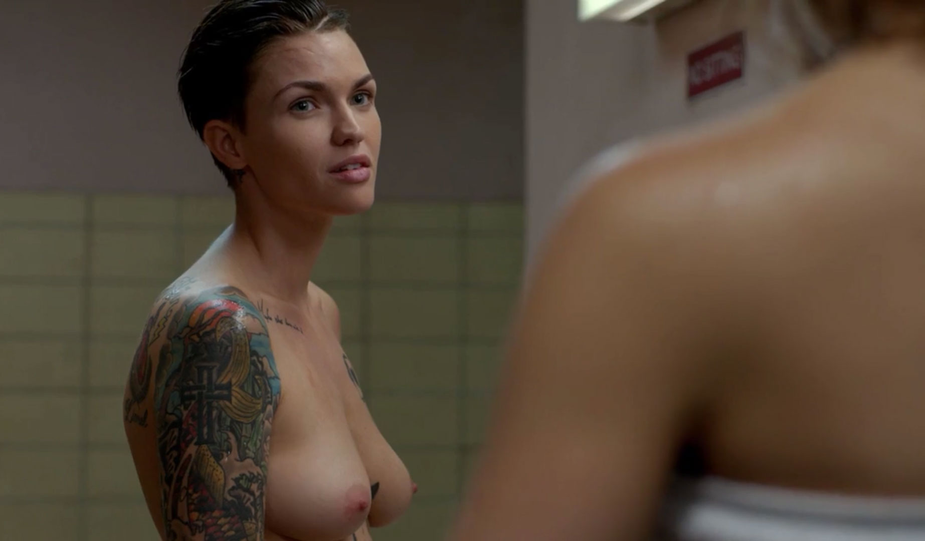 "Ruby Rose - Naked scene from ""orange is the new black"""