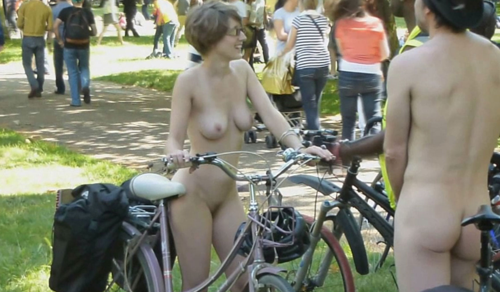 Naked Bike Ride in London
